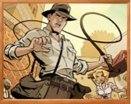 Sort my tiles Indiana Jones online kirakós játék