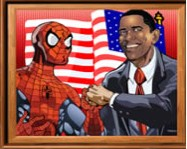 Sort my tiles Obama and Spiderman ingyen játék